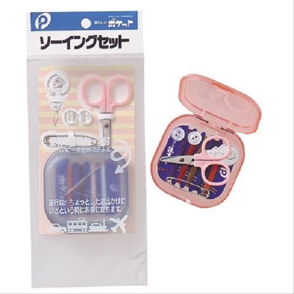 Bộ kim chỉ bỏ túi 6 món kèm hộp đựng hàng Japan Tặng cafe MeetMore (giao màu ngẫu nhiên)