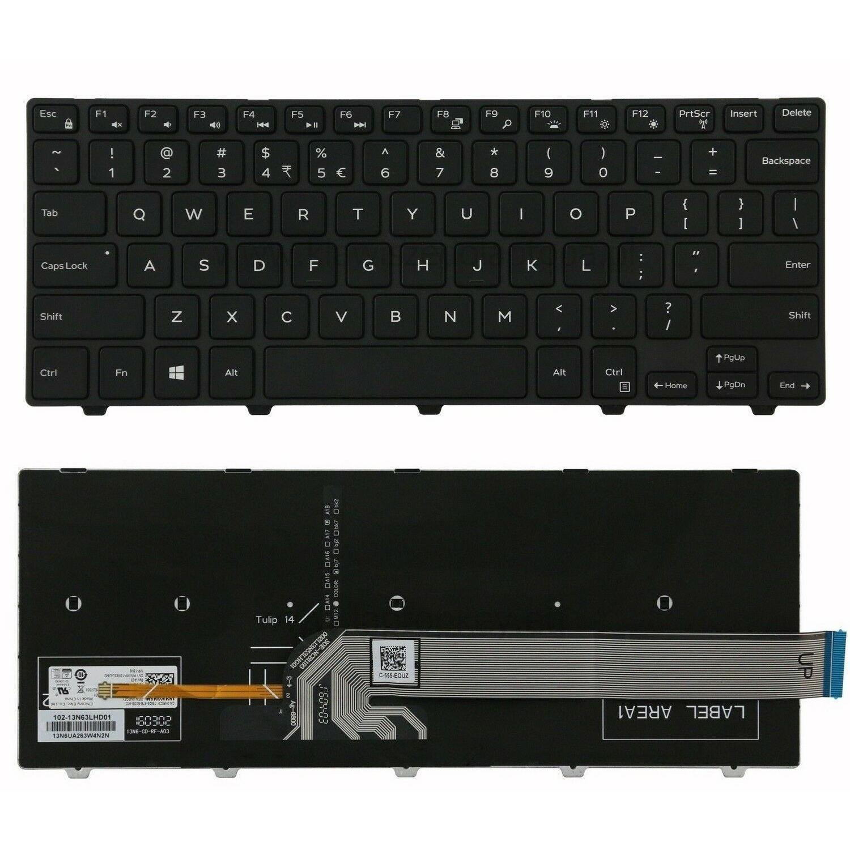 Bàn phím dành cho Laptop Dell 14-5000 5443 5445 5447 5448 5455 5458 Keyboard backlit (Có đèn nền)