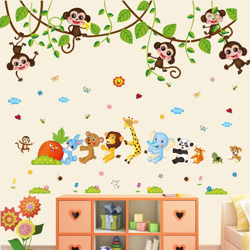 Decal dán tường kết hợp Sở thú vui nhộn AY7247+ XL8221