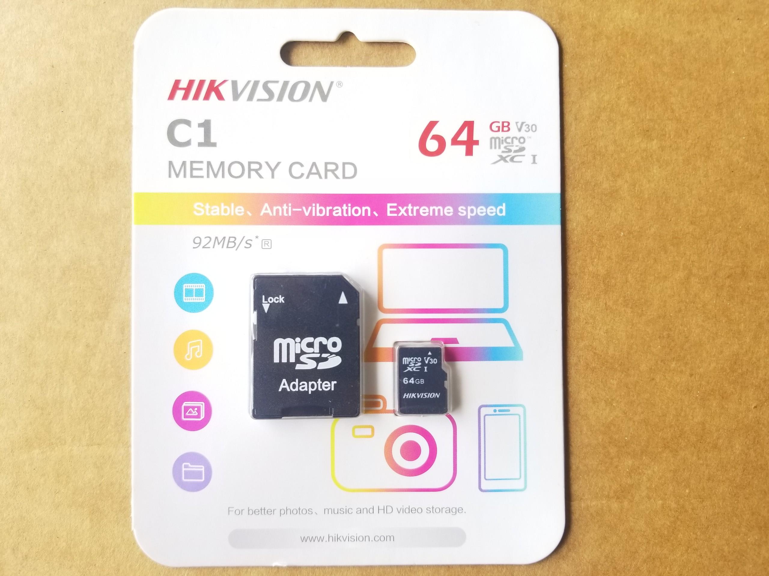 Thẻ Nhớ Micro SD 64G Hikvision C1 - Class 10 - Thẻ Nhớ Dành Cho Điện Thoại / Máy Ảnh / Camera - Hàng Chính Hãng