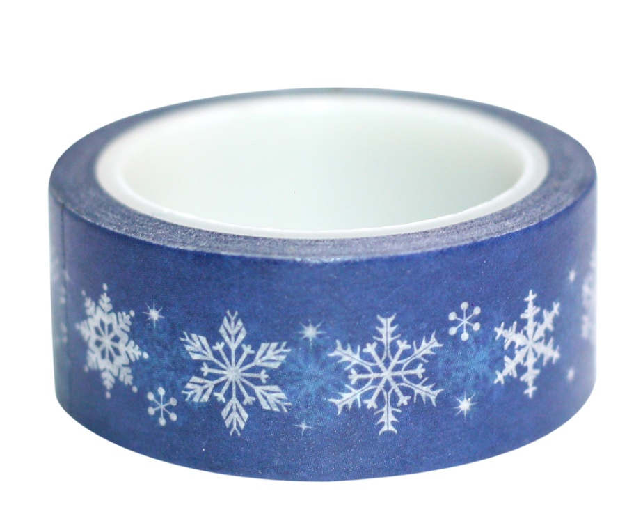 Combo 3 Cuộn Băng Keo Giấy Trang Trí Washi Tape Chủ Đề Giáng Sinh - Xanh Đậm