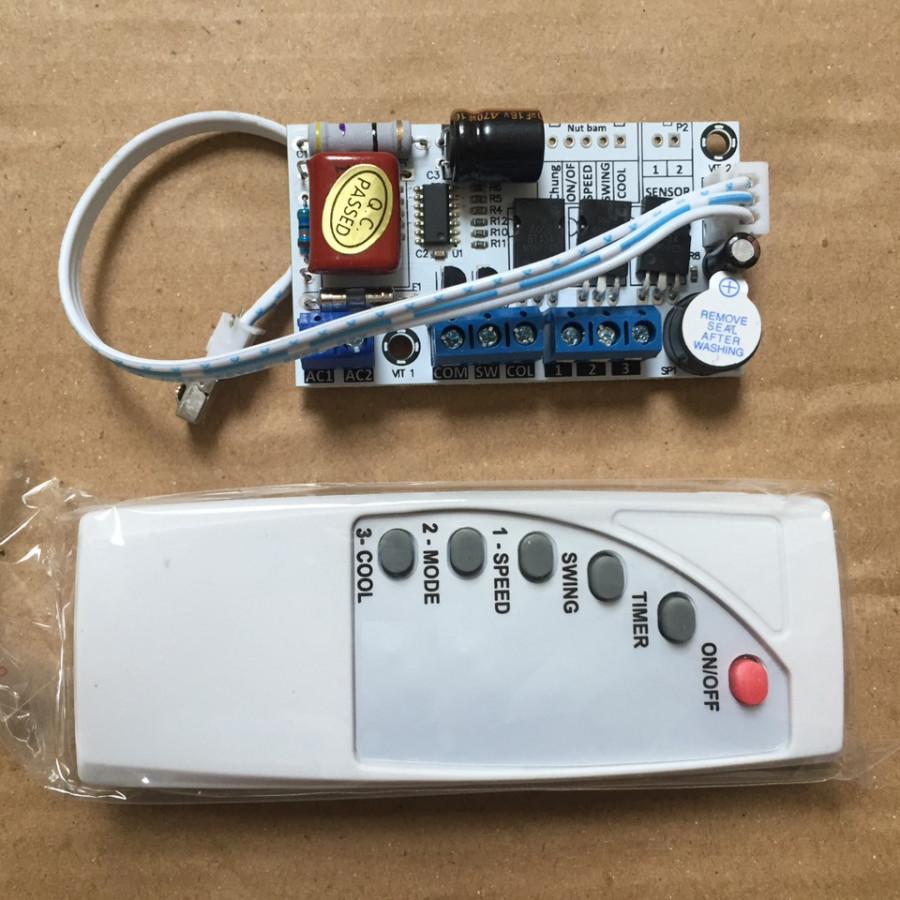 Bộ mạch điều khiển cho quạt phun sương hơi nước đa năng