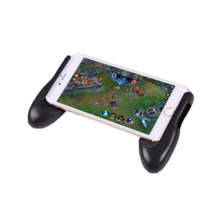 Tay cầm chơi game điện thoại kiêm giá đỡ smartphone nhiều kích thước hỗ trợ chống rung, chống trơn trượt.