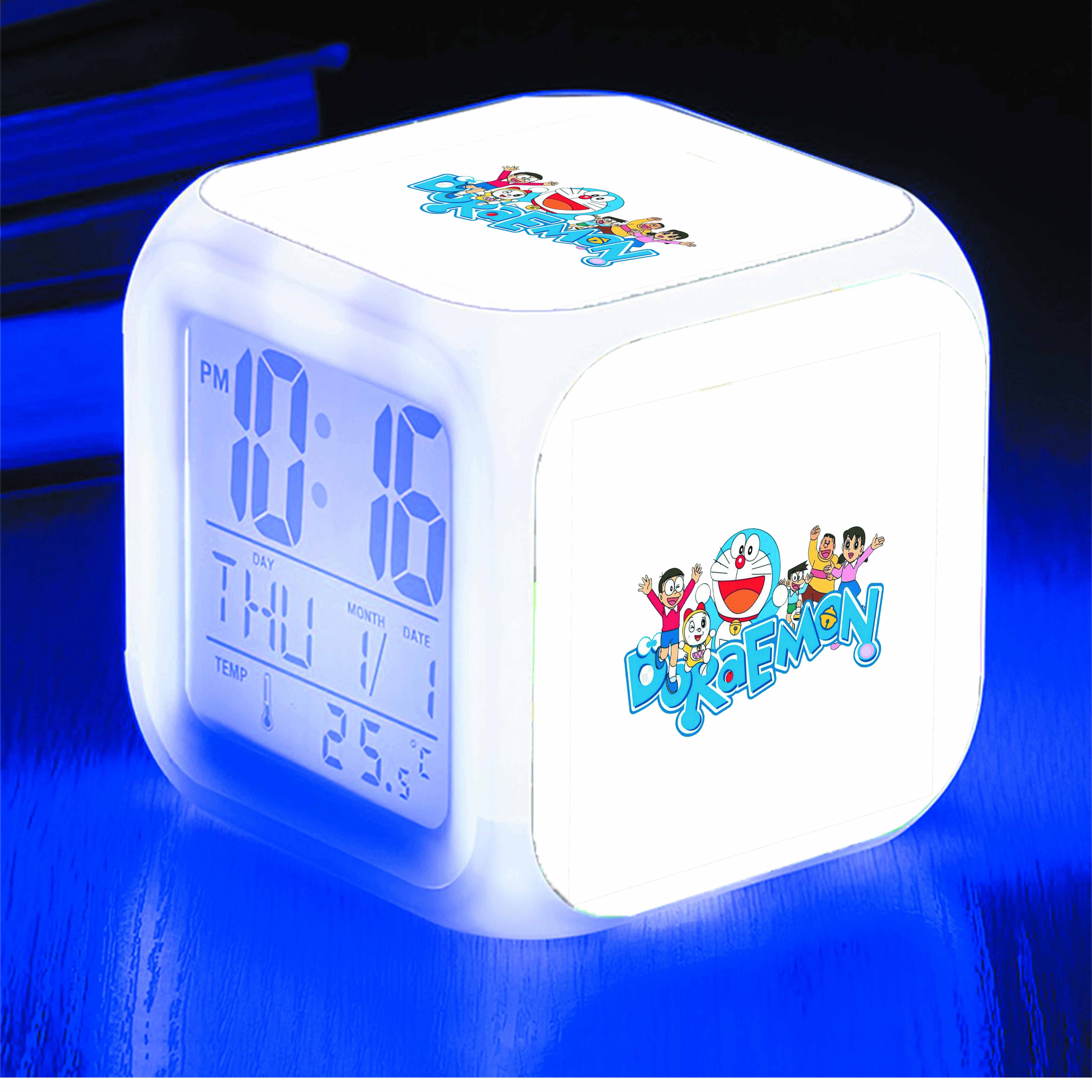 Đồng hồ báo thức để bàn IN HÌNH Mèo Máy Doraemon anime
