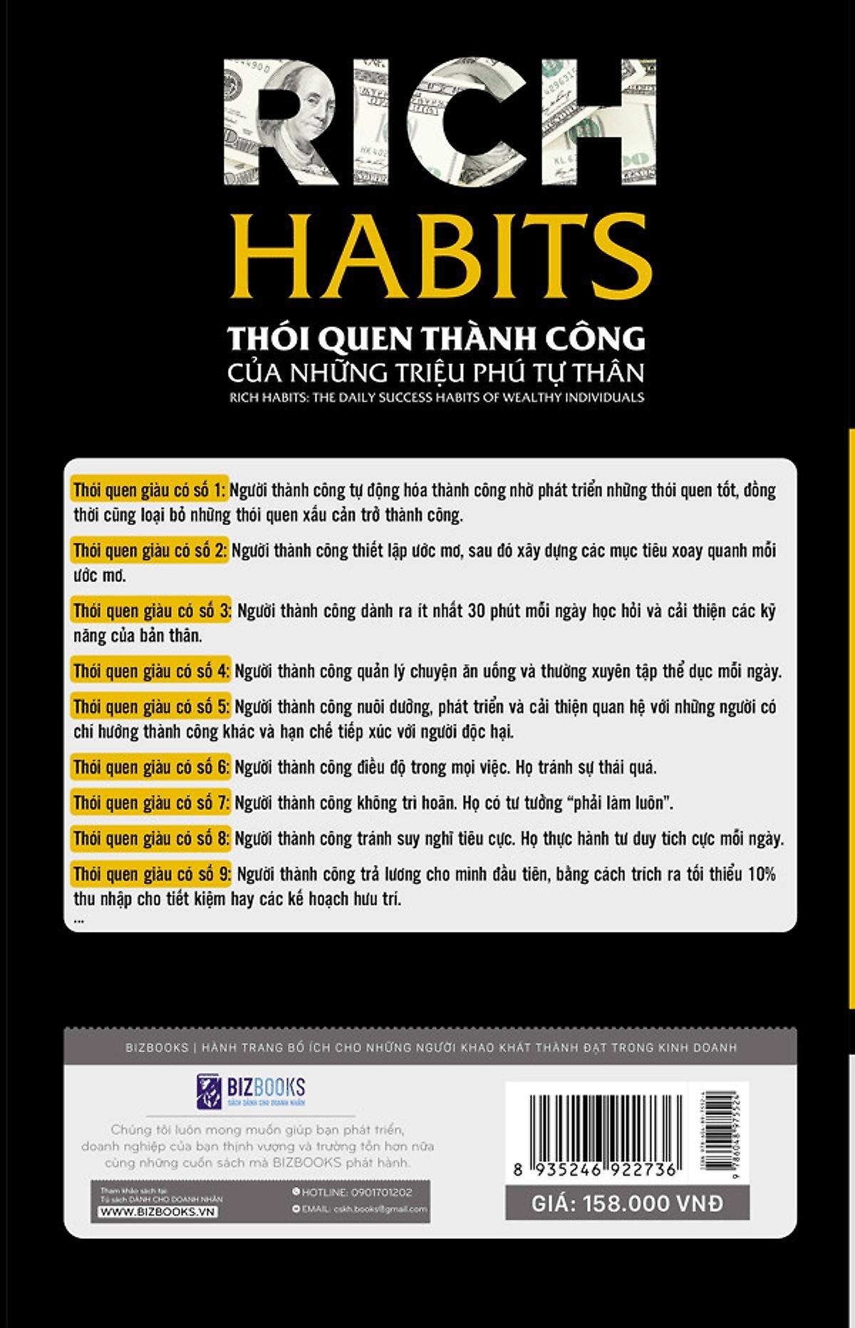 """Bộ Sách Bí Mật Của Sự Thành Công ( """"Rich Habits - Thói Quen Thành Công Của Những Triệu Phú Tự Thân"""" + """"Rich Habits - Poor Habits Sự khác biệt giữa người giàu và người nghèo"""" ) (Tặng kèm Bookmark PL)"""