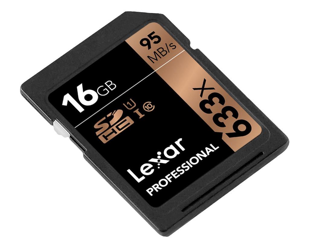 Thẻ Nhớ SDHC Lexar Professional 633x 16GB UHS-I 95MB/s - Hàng Chính Hãng