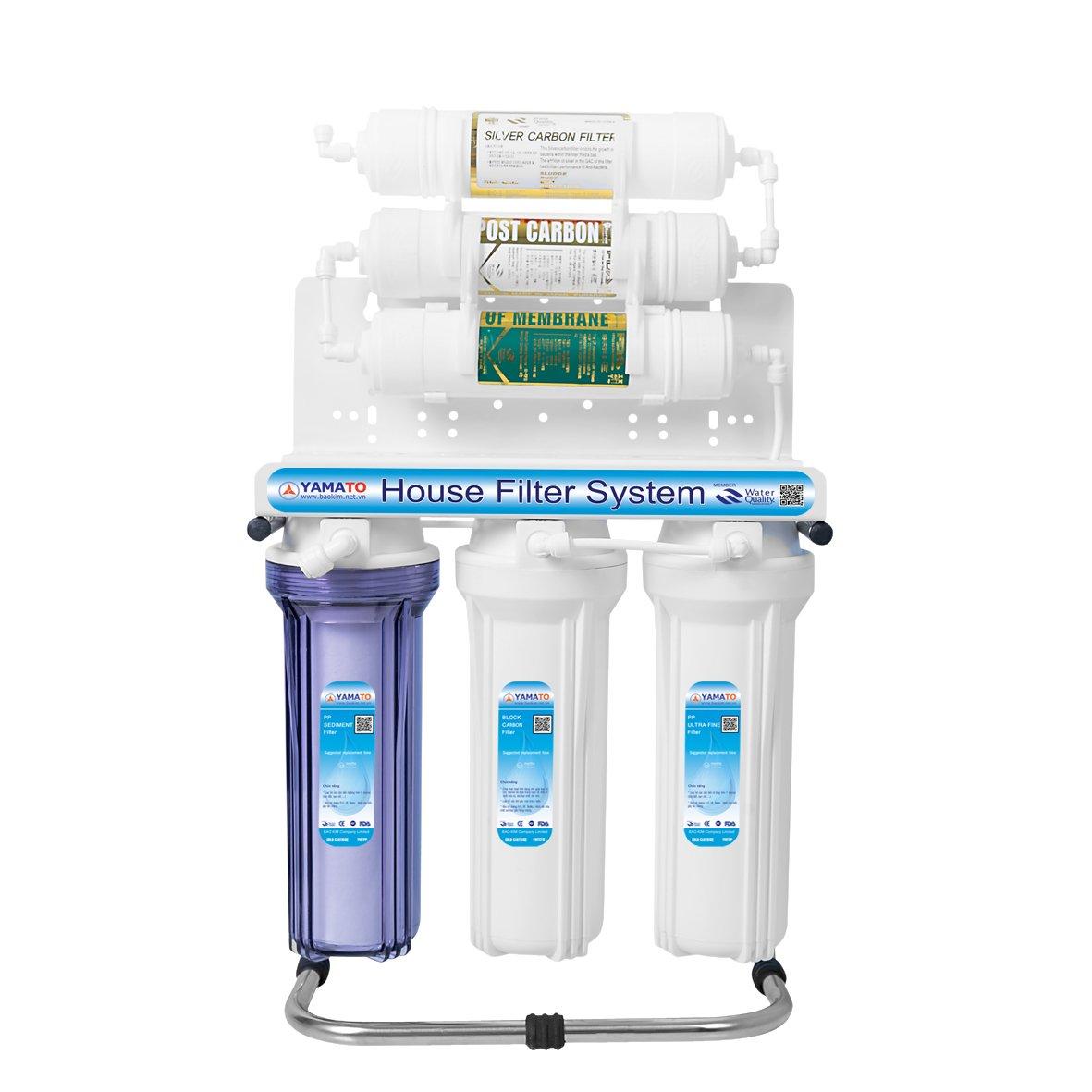 Máy lọc nước YAMATO công nghệ UF – POST – NANO SILVER  Korea 6 bước lọc (Hàng chính hãng)