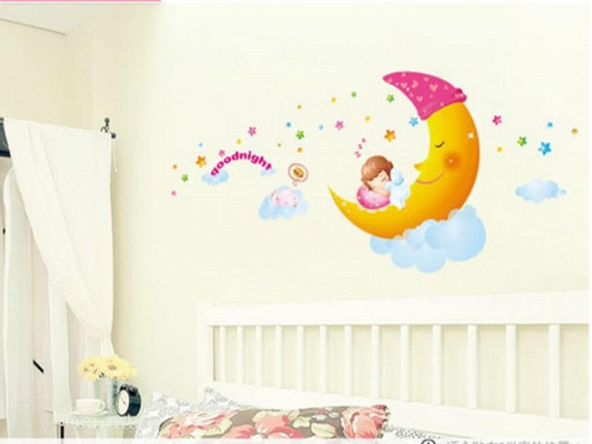 Decal dán tường chúc bé ngủ ngon am005