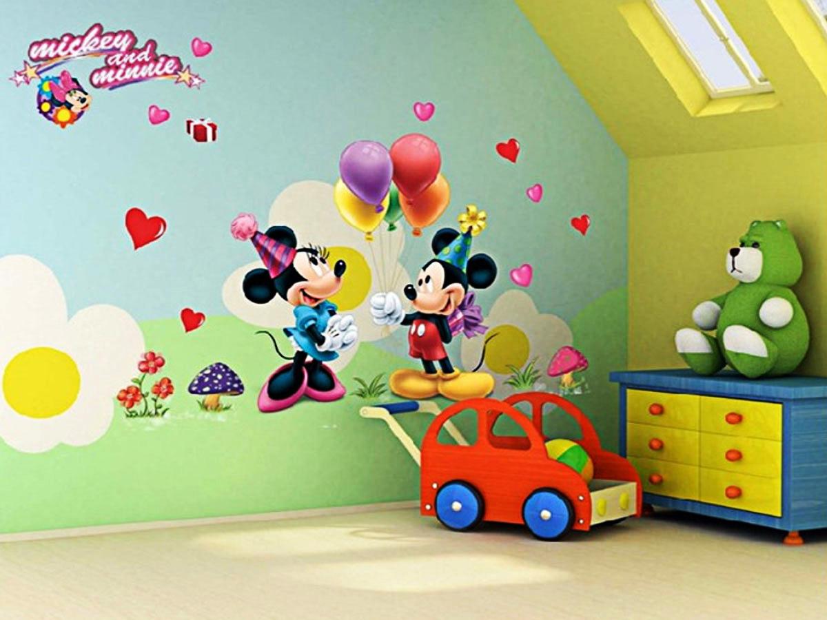 decal dán tường cho bé chuột mickey và mimi