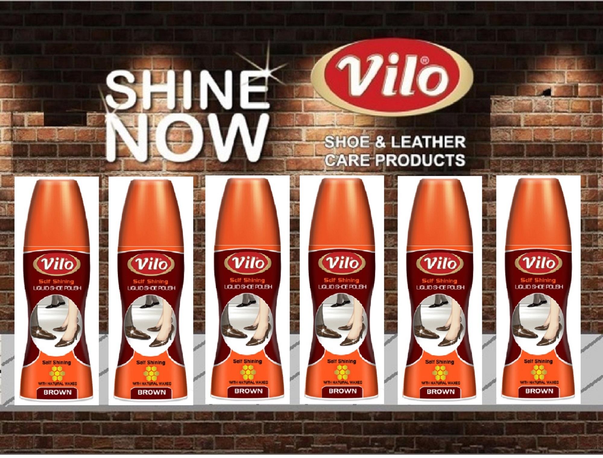 Xi nước đánh bóng giày Vilo liquid shoe polish 80ml (màu nâu)