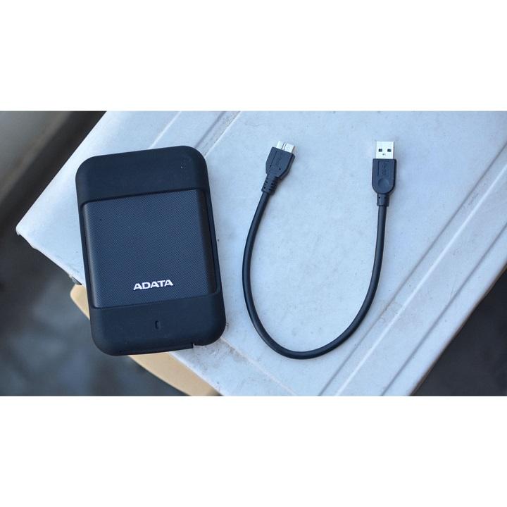 Ổ cứng di động ADATA HD700 2TB / USB 3.1 Gen 1 chống sốc, chống bụi, kháng nước (Đen) - Hàng chính hãng