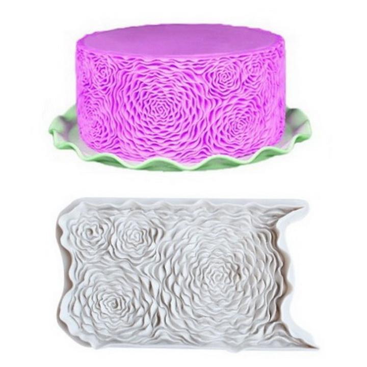 Khuôn silicon làm viền bánh hình hoa 3 chiều