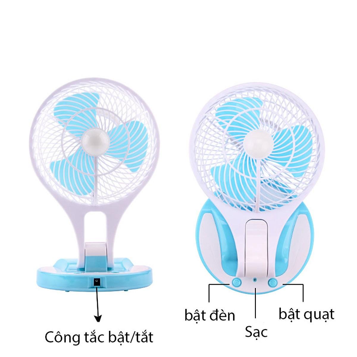 Quạt Mini Tích Điện - Mini Fan Di Động Tiện Lợi (Màu Ngẫu Nhiên)