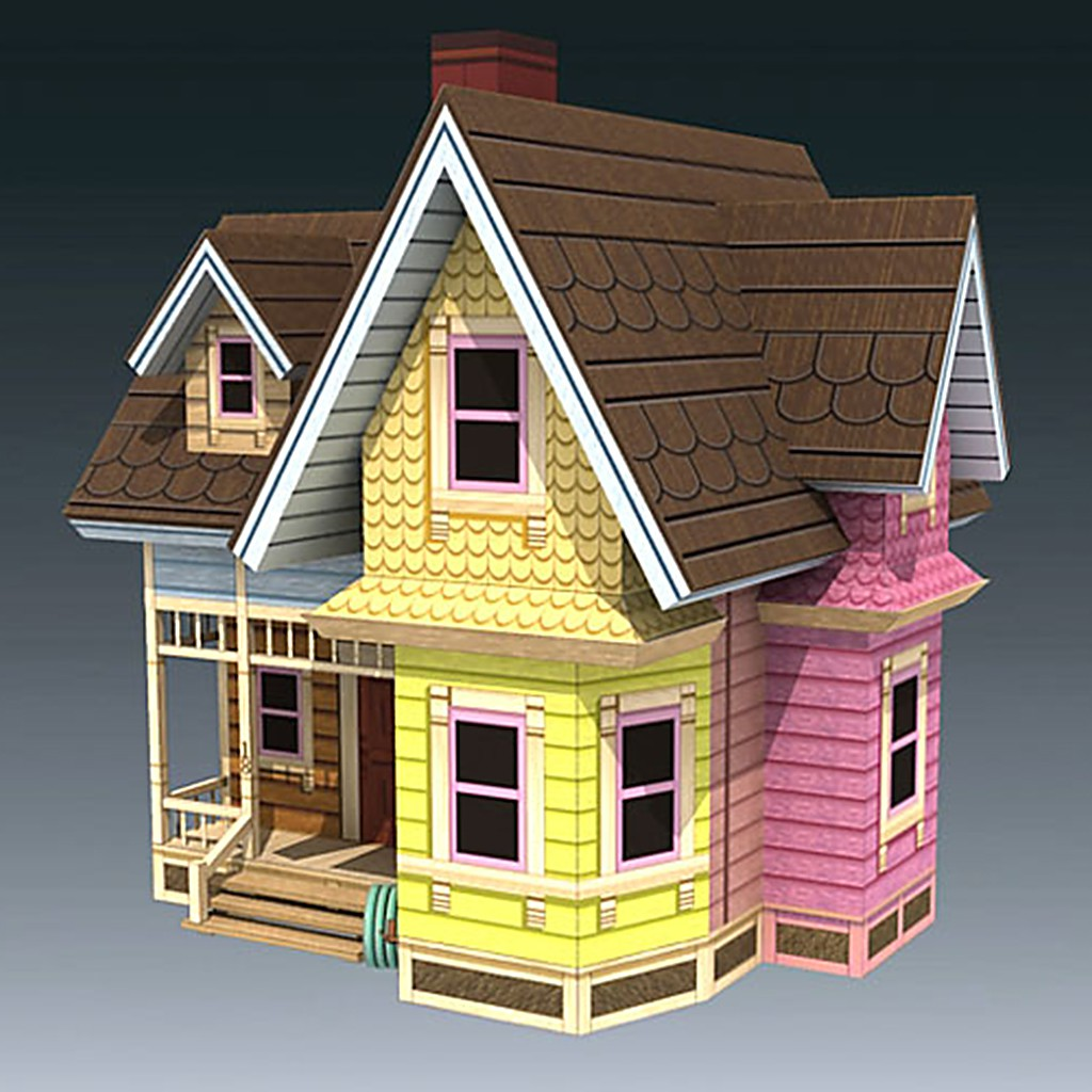 Mô hình giấy Anime Carl's Flying House - UP