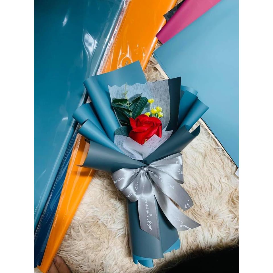 [ Hand made ] Hoa hồng sáp thơm bó sẵn vĩnh cửu A 27 x 10 cm  - Trang trí bàn học, kệ sách, trưng bày phòng khách