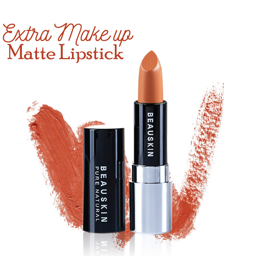 Son lì mềm môi Extra Makeup Matte Lipstick Hàn Quốc 3.5g (B04 - Smoke Brown) + Móc khóa