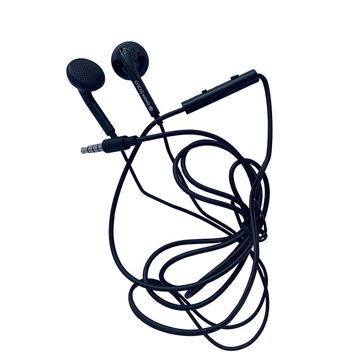 Tai nghe dây dẹt V5 âm thanh trung thực trẻ trung, thể thao ( Đen)  - Hàng chính hãng