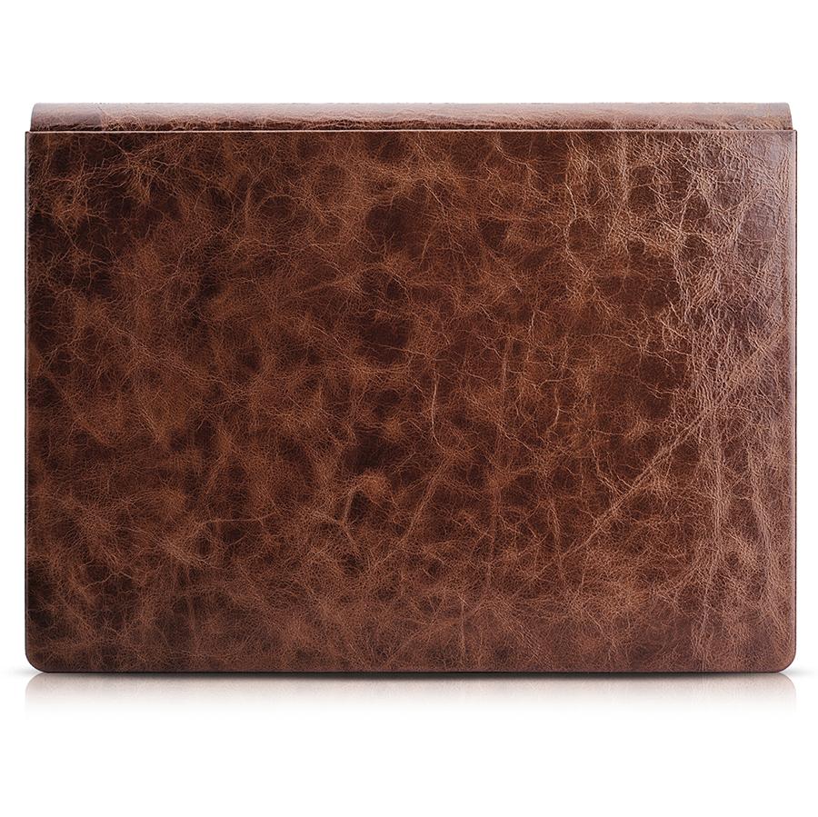 Ốp da dành cho Surface Book ICARER Coffee – Oil Wax Vintage Genuine Leather Detachable Folio Case - Hàng chính hãng