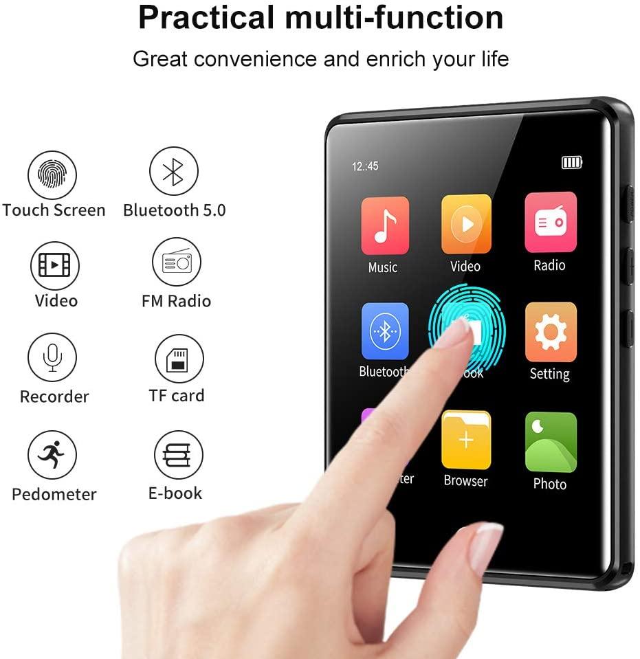 Máy Nghe Nhạc Ruizu M6 - Màn Hình Cảm Ứng 2.8 Inches, Bluetooth 5.0, Loa Ngoài, Pin 50h - Hàng Chính Hãng