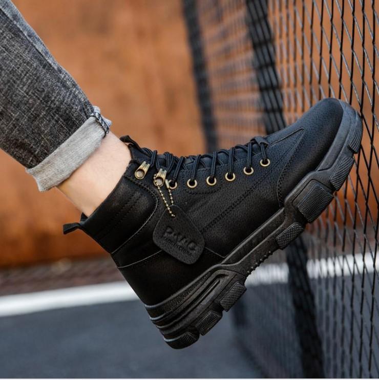 Giày sneaker nam cổ cao, giày bốt nam thời trang phong cách thời trang AVI - 362