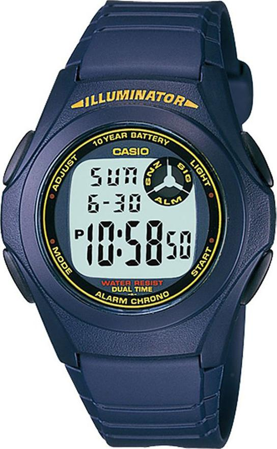 Đồng hồ unisex dây nhựa Casio F-200W-2ADF