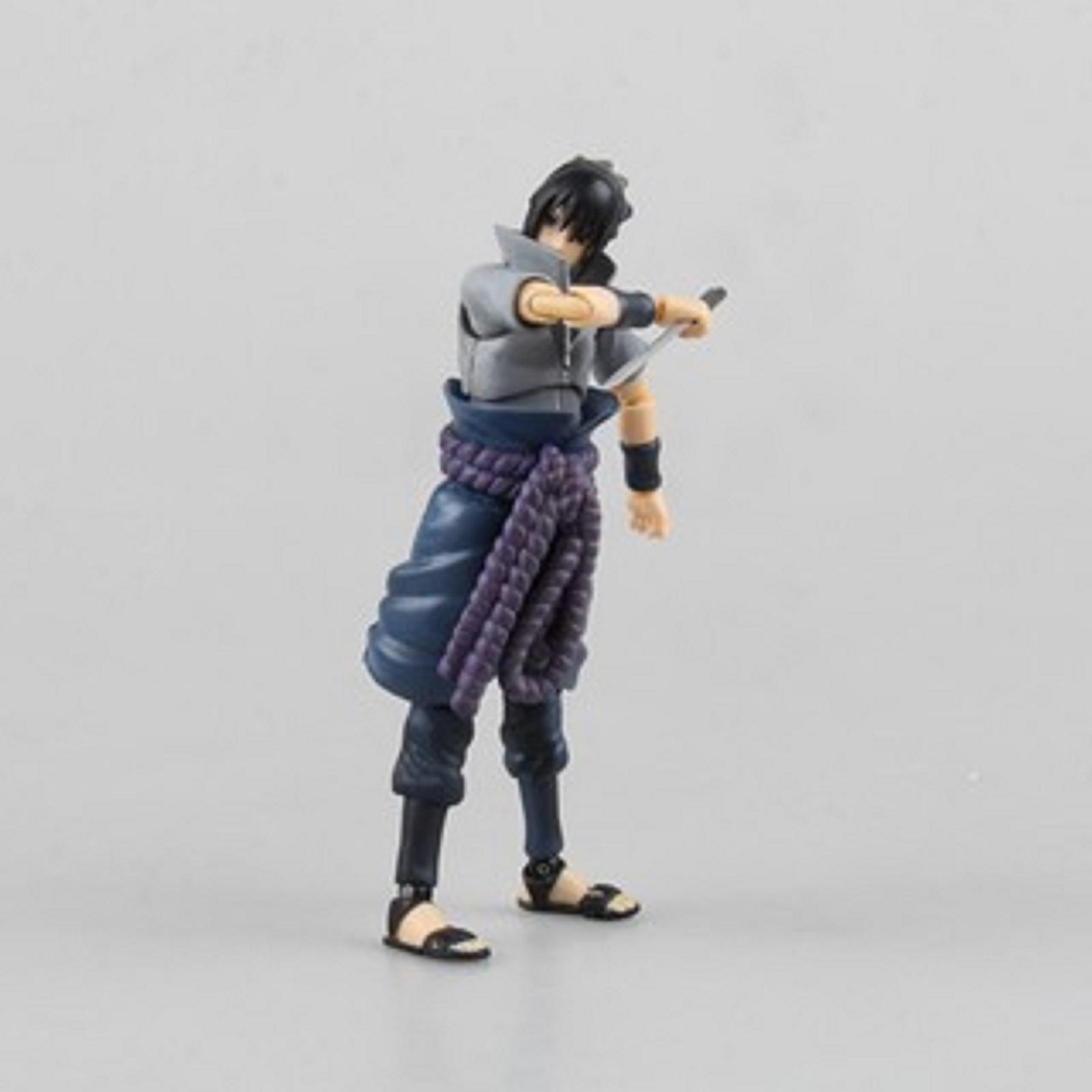 Mô hình khớp cử động Sasuke áo đông sắc nét từng chi tiết, khớp tốt, cao 15cm