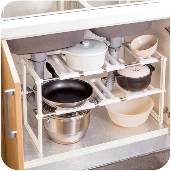 Kệ 2 tầng để đồ nhà bếp đa năng