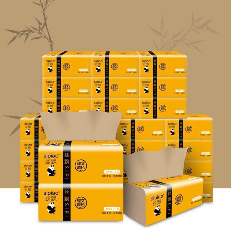 Thùng 30 Gói giấy ăn Gấu Trúc Sipiao siêu dai