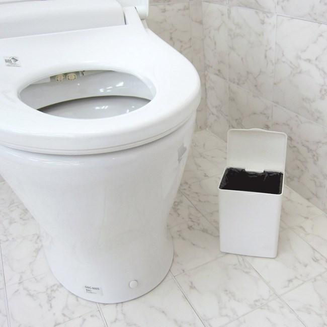 Bộ 2 thùng rác nhựa size nhỏ vành kẹp túi thông minh - Hàng nội địa Nhật