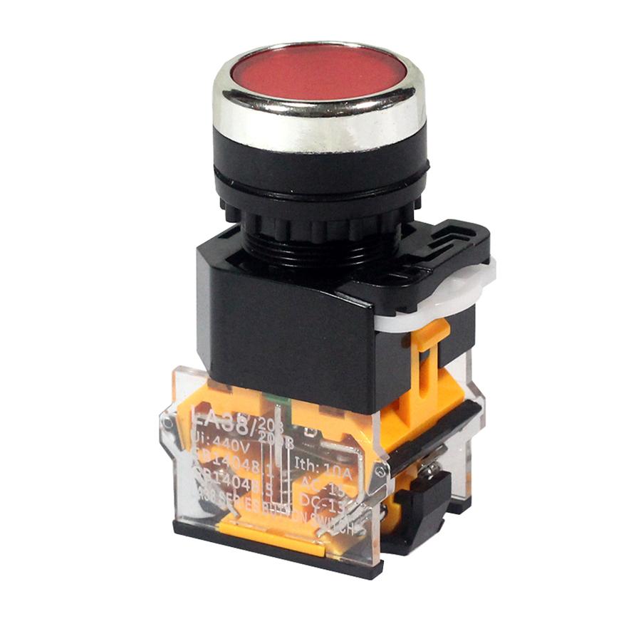 Nút nhấn đề nhả không đèn LA38 - 440V 10A