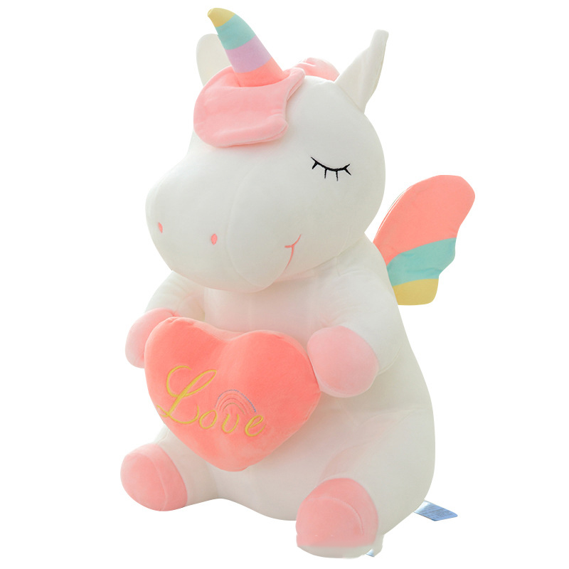 Thú Bông Kì Lân Unicorn Ngồi 36cm Siêu Dễ Thương Quà Tặng Độc Lạ