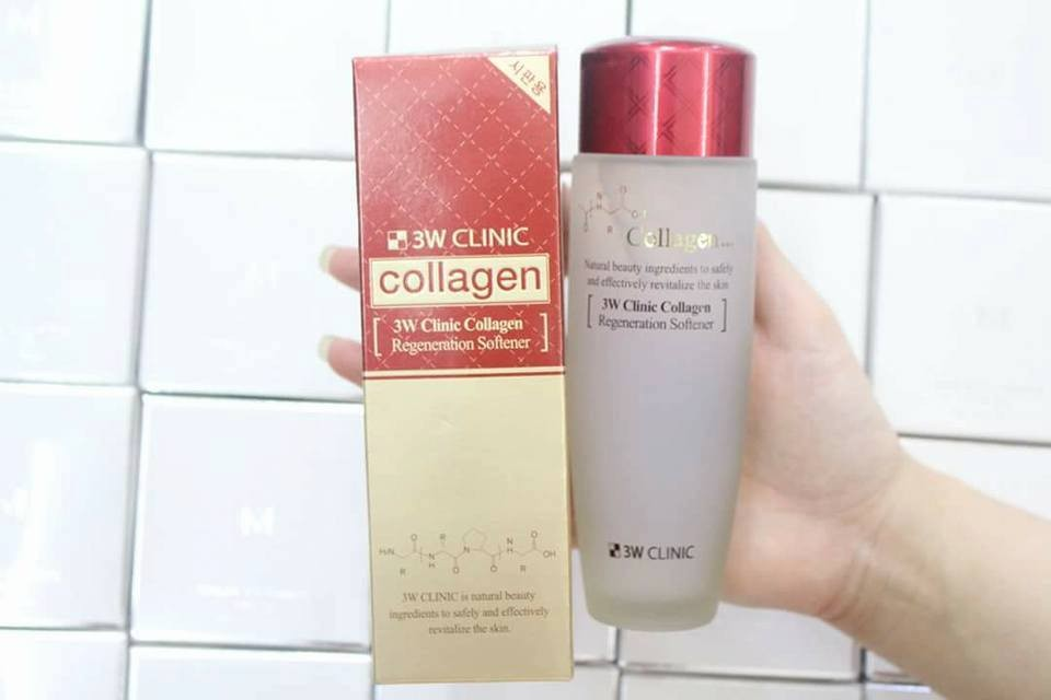 Nước hoa hồng  3w clinic collagen Regeneration Softener – Hàn quốc