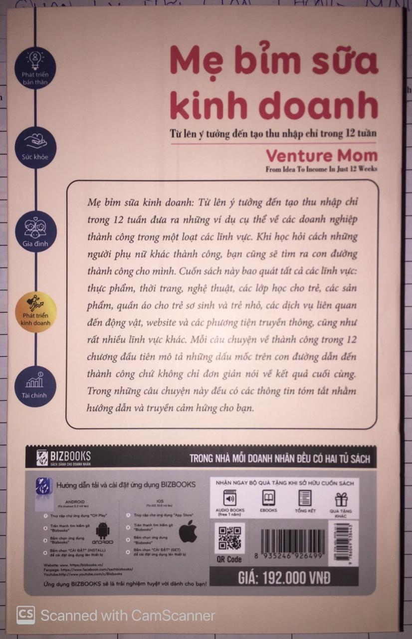 Mẹ bỉm sữa kinh doanh-Từ ý tưởng đến tạo thu nhập chỉ trong 12 thángTV