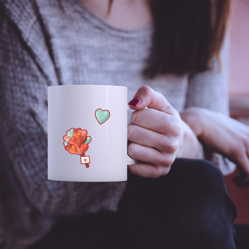 I love you - Single Sticker hình dán lẻ