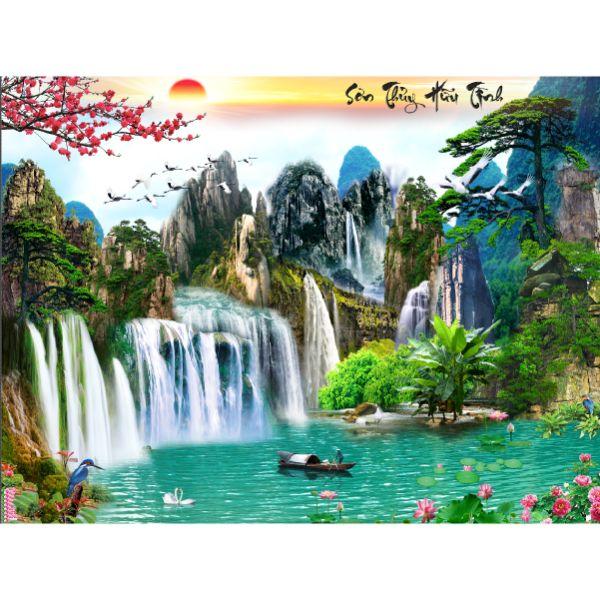 Tranh Treo Tường Phòng Khách Thác Nước - TN028