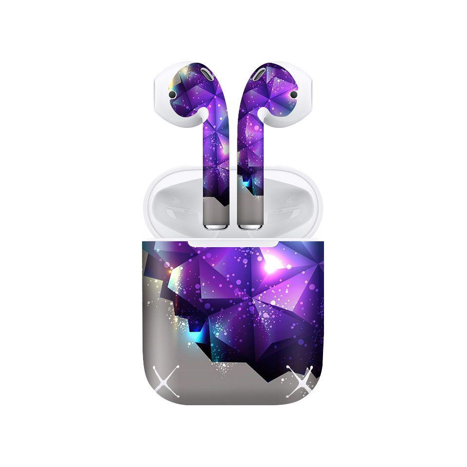 Miếng dán skin chống bẩn cho tai nghe AirPods in hình Họa tiết - HTx005 (bản không dây 1 và 2)