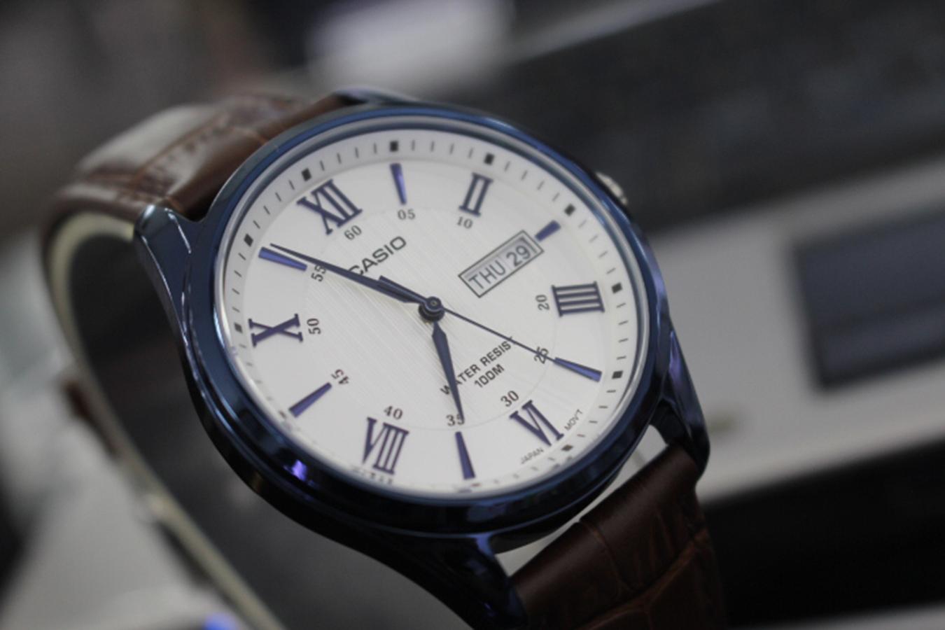 Đồng hồ nam dây da Casio MTP-1384BUL-5AVDF