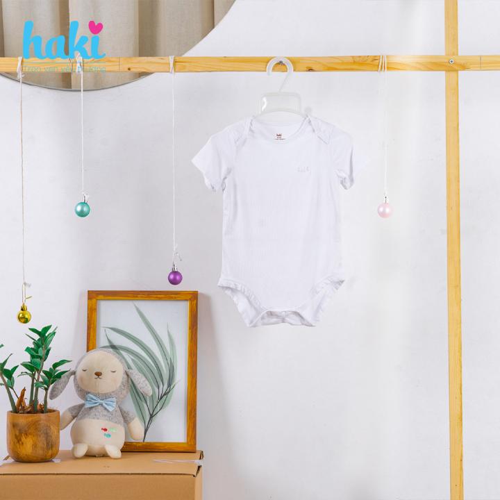 Body cho bé sơ sinh vải sợi gỗ sồi cao cấp siêu mềm mịn - body suit cho trẻ sơ sinh - bé trai - bé gái , Bộ áo liền quần bodysuit cho bé , body cộc tay cho bé từ 3 đến 18 tháng (4- 12kg) HAKI BM006
