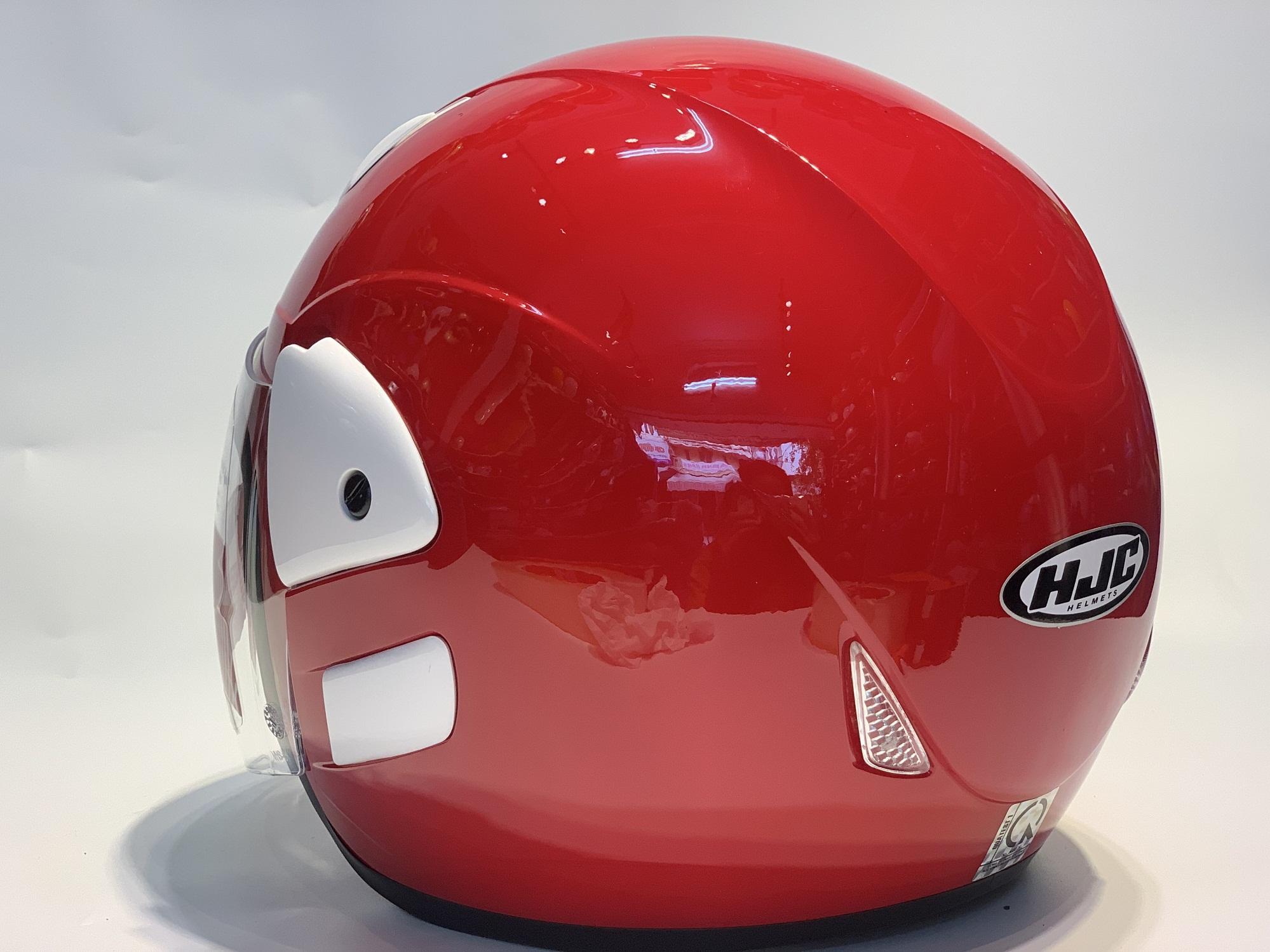 Mũ Bảo Hiểm Trùm Đầu Có Kính HJC VO20 Đỏ Bóng