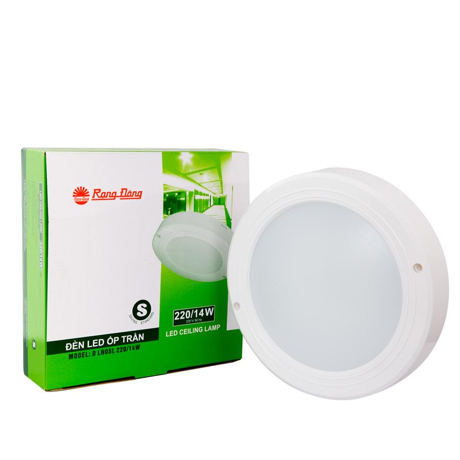 Đèn LED ốp trần  ĐK 220/14W Rạng Đông (D LN 05L 220/14w)