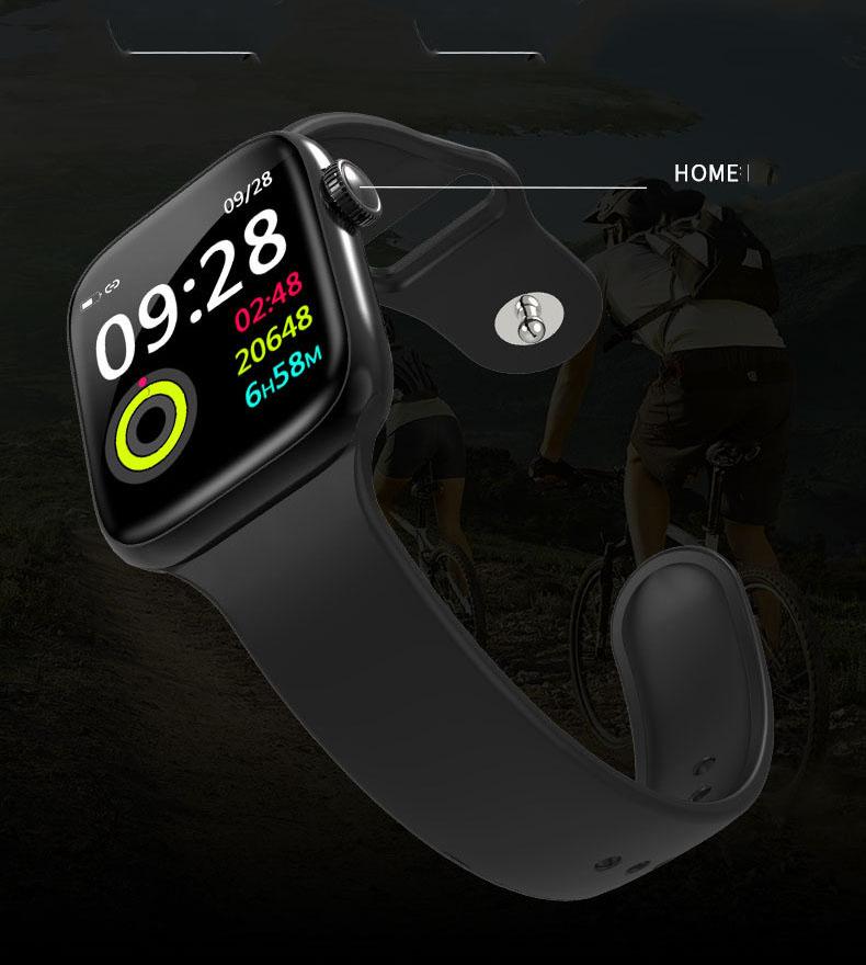 Đồng hồ thông minh cao cấp ANNCOE WATCH 5 Chống nước IP67 ĐEN - Hàng Nhập Khẩu