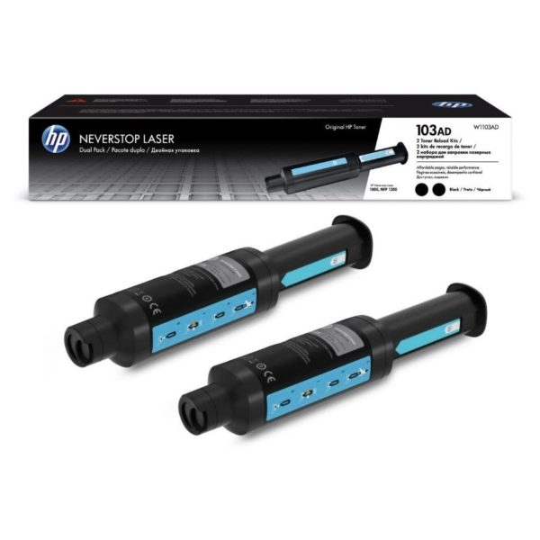 Mực in laser HP Neverstop Toner Dual Kit W1103AD (2*2500 pages - 103AD) | mực in cho dòng máy in HP Neverstop Laser - Hàng chính hãng