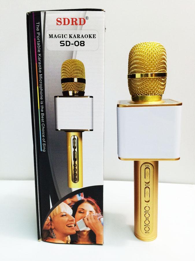 Micro SD 08 mic hát karaoke kiêm loa bluetooth (giao màu ngẫu nhiên)