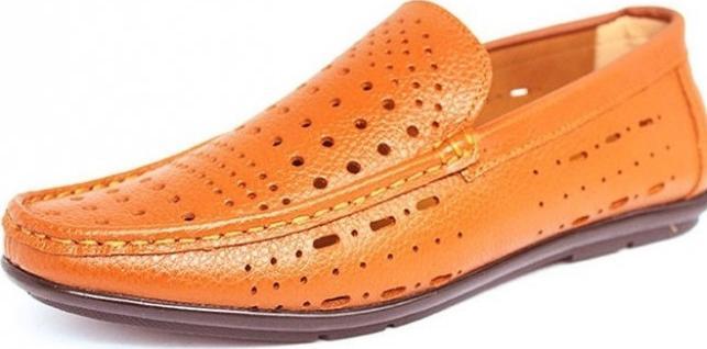 Giày Lười Siêu Thoáng Nam BAZAS BZ58688V Da Bò Bền Đẹp - 42