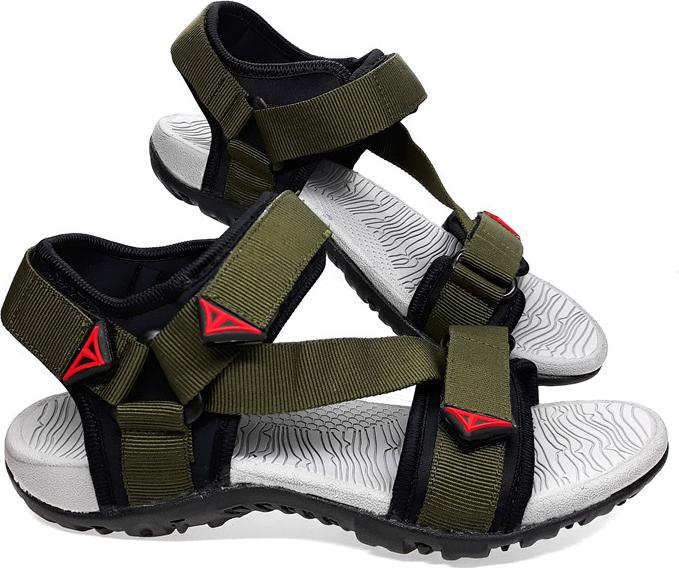 Giày sandal nam Việt Thủy quai ngang VT02 - xanh rêu