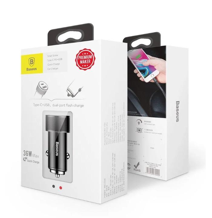 Adapter sạc nhanh đa năng CAXLD-A01 tích hợp 2 cổng USB và Type C dùng trên ô tô, xe hơi
