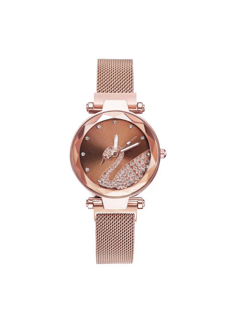 Đồng hồ đeo tay nữ dây nam châm thiên nga cực đẹp DH94