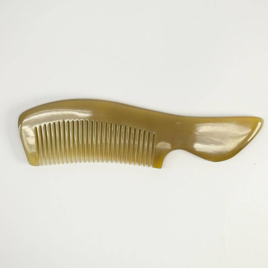 Lược sừng xuất Nhật - COH141 (Size: M) Lược chuôi vát - Horn Comb of Hahanco