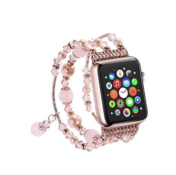 Dây đeo thay thế cho Apple Watch 38 mm _ kiểu vòng đá nữ tính
