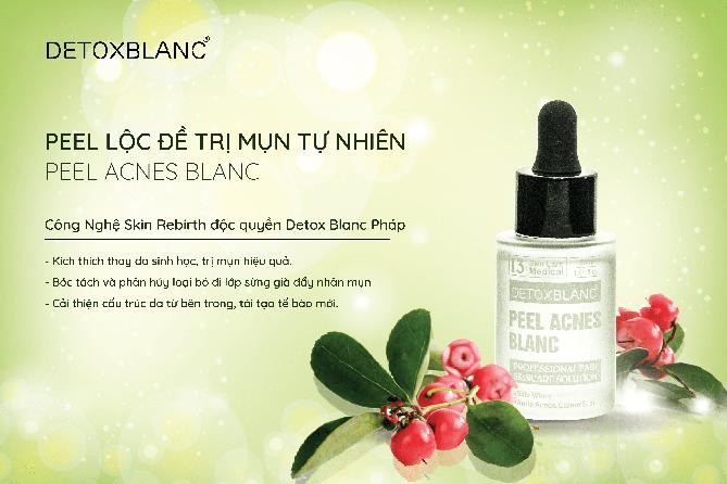 Peel Acnes Blanc Thương Hiệu Detox Blanc (Pháp) – Giúp Ngừa Mụn, Giảm Mụn Và Làm Trắng Da Hiệu Quả 1